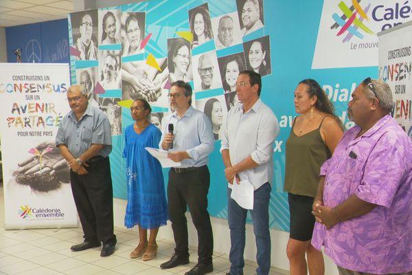 Calédonie ensemble conférence de presse