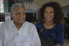 Le sud -africain Abdullah Ibrahim plus connu sur le nom Dollar Brand et la pianiste et chanteuse Janysett McPherson.