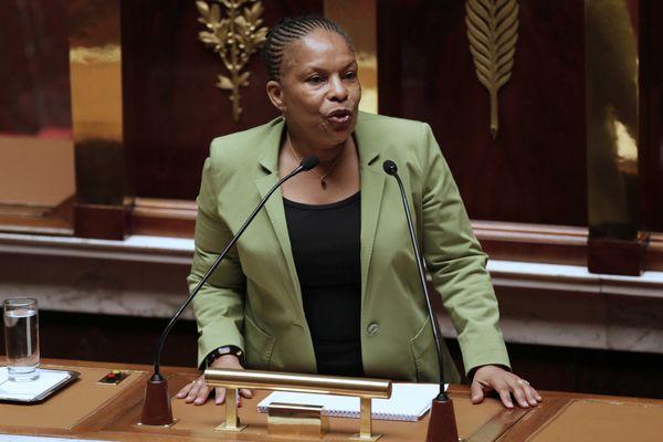 Christiane Taubira défend le projet de loi du gouvernement à l'Assemblée nationale, le 29 janvier 2013.