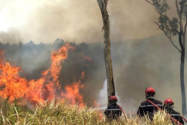 Incendie au plateau de Tango, Koné-Tiwaka, pompiers de Koné, 12 novembre 2019