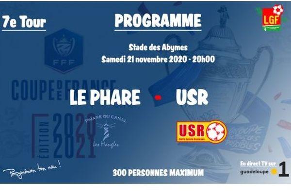 7ème tour de la coupe de France de Football 2020, zone Guadeloupe