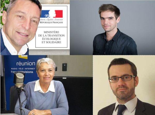 Frédéric Mortier, Clément Sénéchal, Katherine Chatel et Bertrand Reysset.