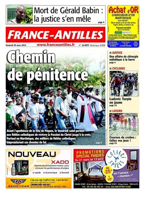 France Antilles Martinique 29 mars 2013