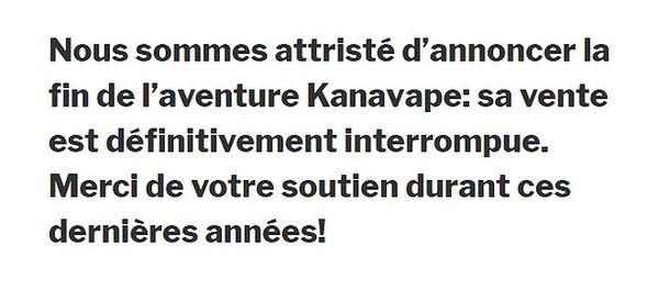 Kanavape fermé en France
