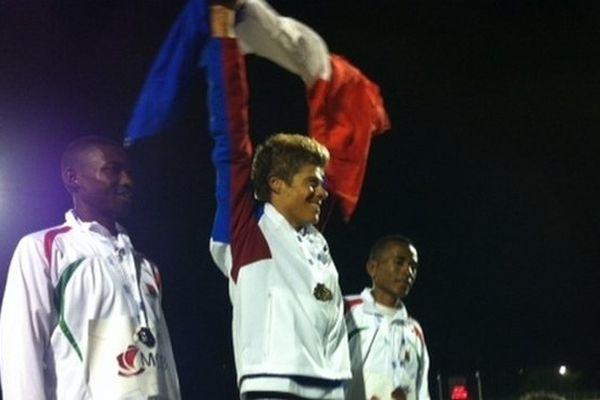 JIOI Athlétisme podium David Hausse