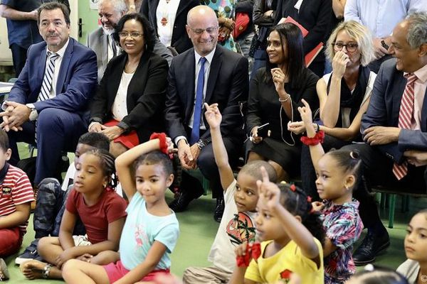 Le ministre de l'Education nationale, Jean-Michel Blanquer, en visite à La Réunion, le lundi 19 août 2019.