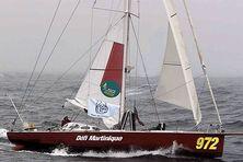 """Le bateau """"Défi Martinique"""" dans la classe rhum de cette route du rhum barré par Daniel Ecalard"""
