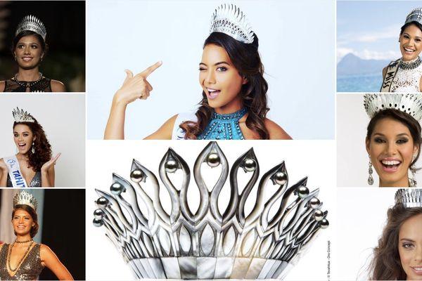 Les diadèmes Miss Tahiti