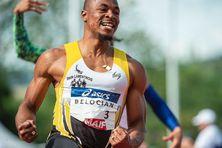 Premier titre de champion de France sur 60 mètres haies pour le Guadeloupéen Wilhem Belocian.