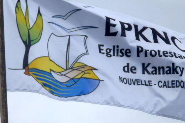 Drapeau de l'EPKNC, église protestante de Kanaky-Nouvelle-Calédonie
