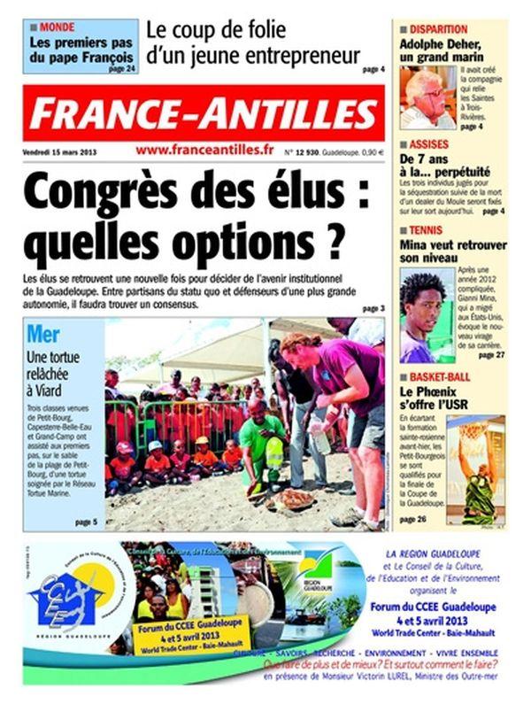 France-Antilles Guadeloupe du 15 mars 2013