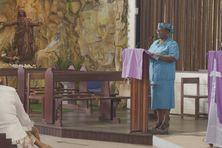 Une des intervenantes, Julainna Chocho Dufail, enseignante à la retraite