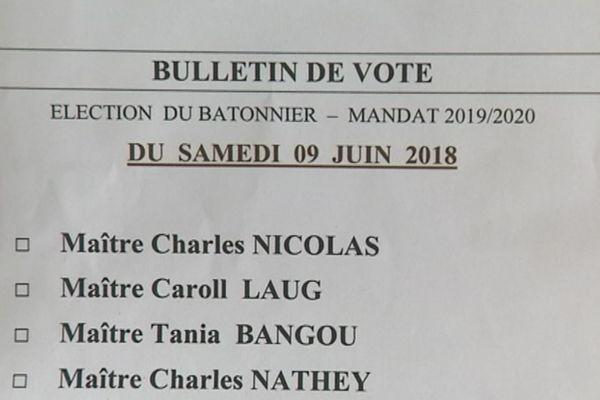 bULLETIN DE VOTE BARREAU