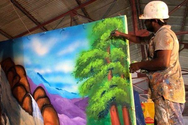 Dipavali 29ème édition de la fête de la Lumière préparatifs chars Saitn-André 04118