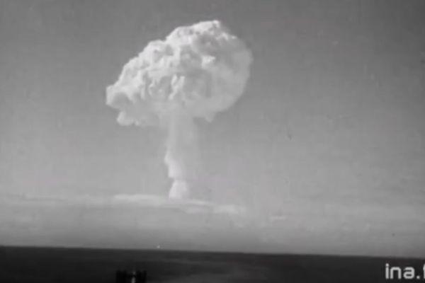Le champignon nucléaire de l'explosion de Canopus