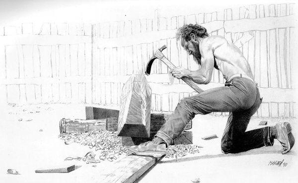 Illustration charpentier de marine
