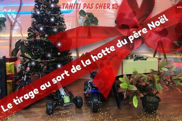 """Tirage au sort de la hotte de Noël """"Tahiti pas cher"""""""