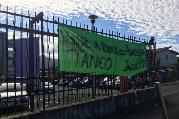 Mobilisation chauffeurs de bus de Taneo