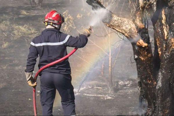 Feu à Poya, pompier de Bourail, 29 octobre 2018