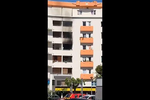Incendie appartement immeuble centre-ville Saint-André 080921