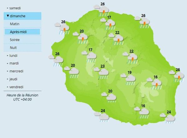 meteo carte dimanche 5 janvier 2020