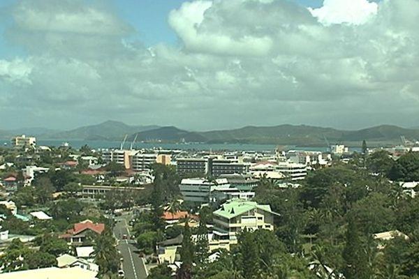 vue rue centre-ville Nouméa