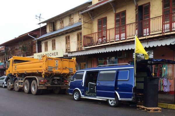 Manifestation des transporteurs à Cayenne