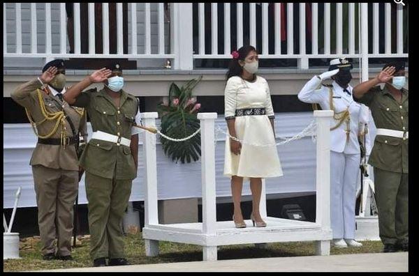 Belize, intronisation du Gouverneur Général