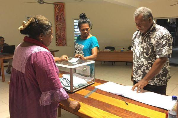 Vote deuxième second tour élections législatives Hienghène (18 juin 2017)