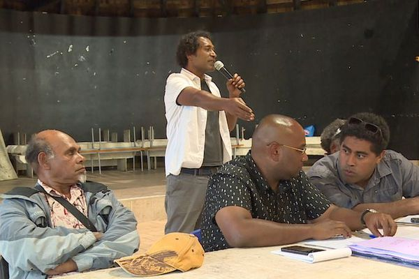 Rassemblement d'usagers et de coutumiers des îles à Ko We Kara, 29 juillet 2020