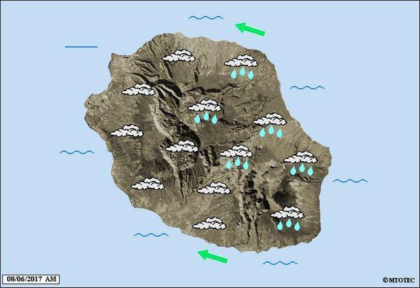 Carte météo 8 juin 2017