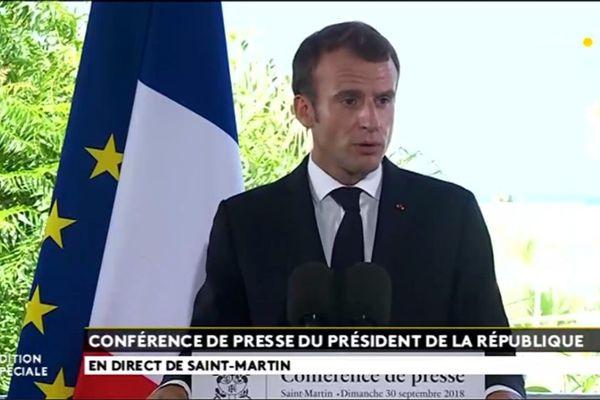 Conférence de presse Macron Saint-Martin