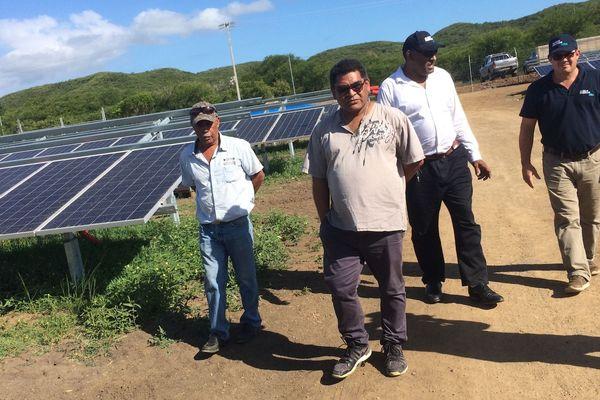 Visite de la future centrale photovoltaïque de Karikate, 5 avril 2019