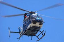 L'hélicoptère de la gendarmerie.