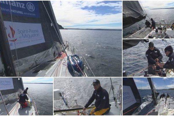 Derniers préparatifs pour le Sirius avant le convoyage du voilier pour Québec