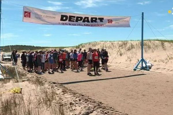 Ligne de départ des 25 km de Miquelon, édition 2018