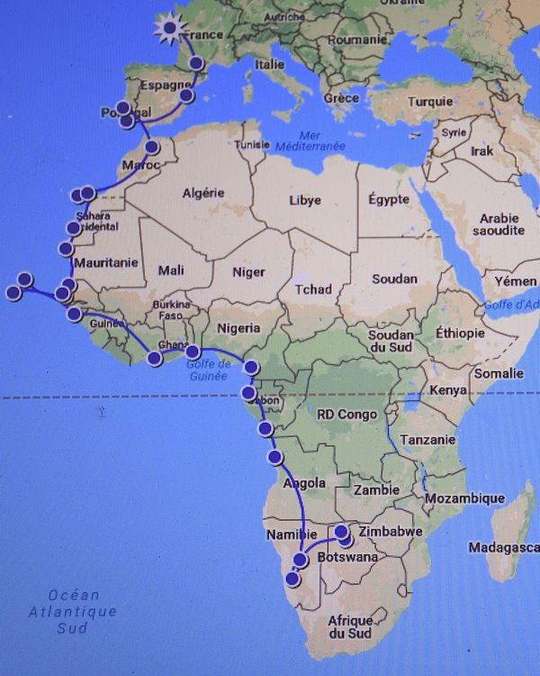 Spirit of Nouméa en Afrique : itinéraire jusqu'au Botswana