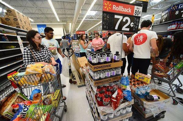 Floride ruée supermarchés Dorian
