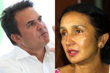 Didier Robert et Huguette Bello il y a quelques années