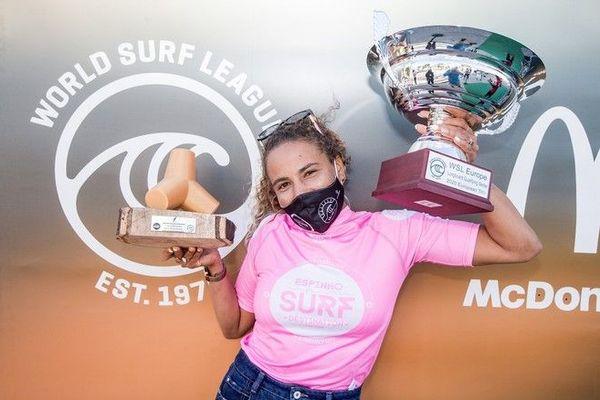 Surf Alice Lemoigne championne d'Europe de longboard 111020