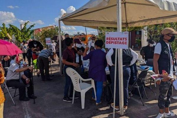 Site de dépistage à Madagascar
