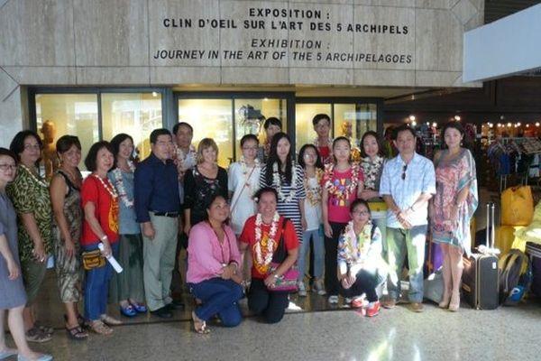 Arrivée des jeunes élèves chinois à Tahiti