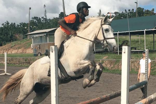 Jeune cavalier Guadeloupéen
