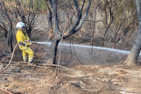 Les pompiers restent mobilisés sur l'incendie du Maïdo