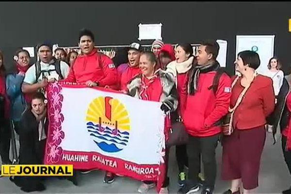 Une délégation de jeunes Polynésiens à la COP 21
