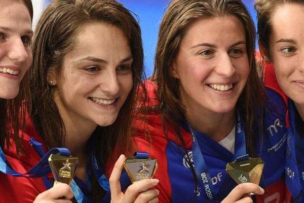 Natation : les Françaises sacrées championnes d'Europe sur 4x100 m nage libre
