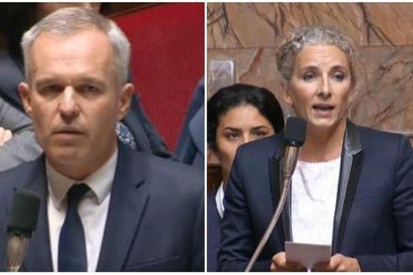 François de Rugy et Delphine Batho le 2 octobre 2018 à l'Assemblée nationale