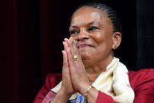 Christiane Taubira, après sa démission du gouvernement, en janvier 2016