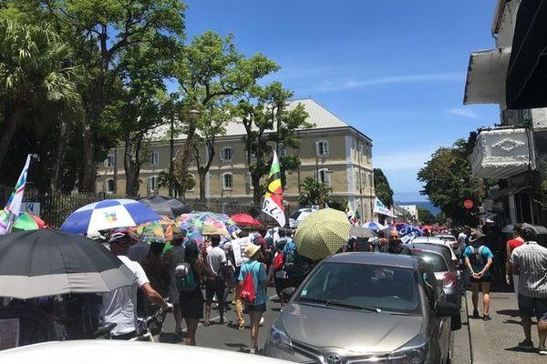 Grève contre la réforme des retraites du mardi 10 décembre manifestants à Saint-Denis