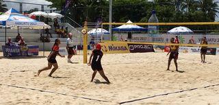 Nirvana Tufele et Melesete Tiale ont perdu contre le Vanuatu, 2 sets à 0.